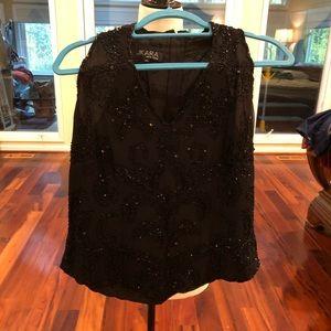 Beaded black top